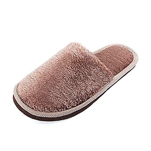 XHCHE Herren Winter Hausschuhe Indoor-Schuhe Casual FüR Home Baumwolle Weichen PlüSch Warm Man Flache Schuhe