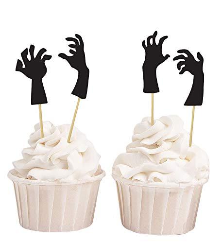 lloween Monster Hand Cupcake Topper, Geburtstag Party Dessert Dekorationen Picks - Pack von 20 ()
