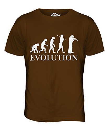 CandyMix Kornett Instrument Evolution Des Menschen Herren T Shirt Schokolade