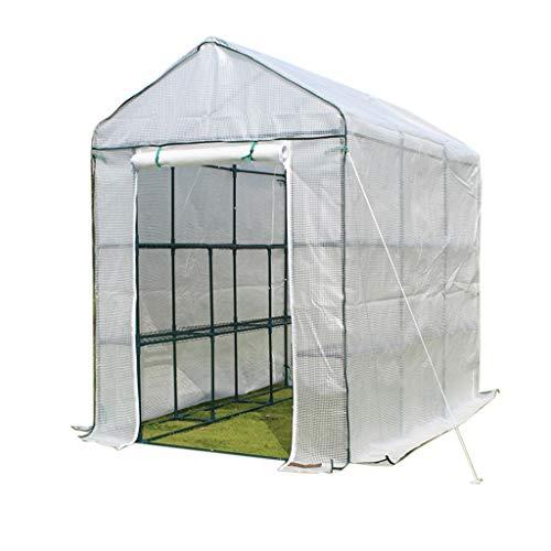 Miniserre serra da giardino balcone mini serra portatile per l'inverno, scaffali per piante da interno indoor capottina pomodoro walk-in garden green house (dimensioni : 70×140×195cm)