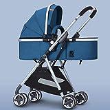 PLDDY Kinderwagen leicht und hohe Landschaft, kann sitzen, Lieen, falten, 2-Wege-Stoßdämpfer, warm im Winter und kühl im Sommer, 6 Farben optional