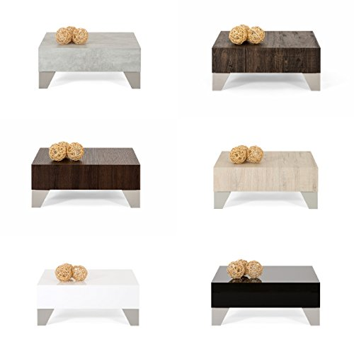 Compare Prices for mobilifiver Evo 60Living Room Table, Wood, Concrete, 60x 60x 24cm on Line