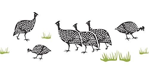Perlhuhn Schablone–46x 16,5cm–wiederverwendbar afrikanischem Tier Wildlife Guinea Fowl Bordüre Schablonen für Malerei–zur...