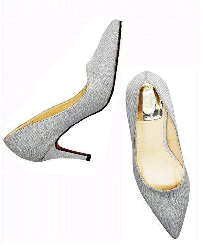 XTIAN - Scarpe con Tacco Donna Argento