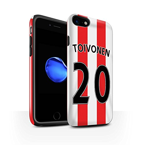Officiel Sunderland AFC Coque / Brillant Robuste Antichoc Etui pour Apple iPhone 7 / Gardien But Design / SAFC Maillot Domicile 15/16 Collection Toivonen