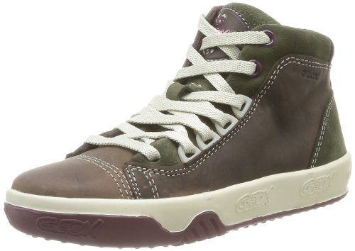 Geox J Original C, Baskets mode garçon Marron (Dk Brown/Beige)