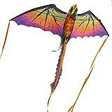 SDCVRE Aquilone Aquilone per Bambini Power Kite Dragon Creative Stunt KiteDrago Volante con Coda Lunga Sport all'aperto Aquilone Volante per Adulti, Aquilone Viola ha Linea