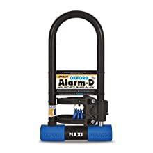 Oxford Unisex's D Max Alarmed Shackle, Black/Blue, One Size