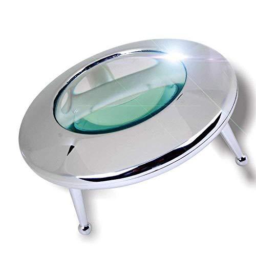 MSXBMSY Electronic Magnifier Lupa con el Detector de Dinero Herramienta de identificación Sello Led...