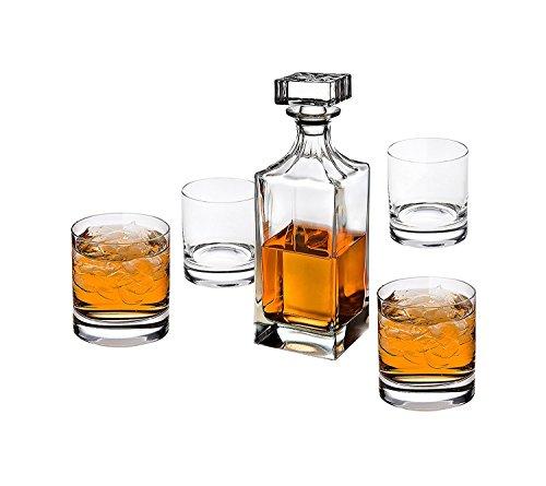 Godinger Glass 5 tlg. Social Whiskey Karaffe + Double Old Fashion Set Einheitsgröße keine Old Fashion Set