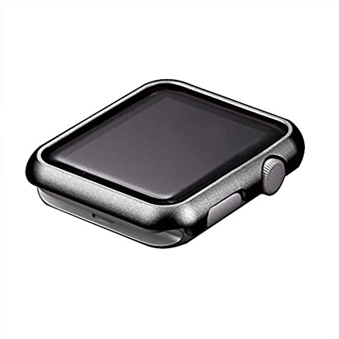 Apple Watch Serie 2 Case, Toeoe 42MM Lightweight Metal Bumper Aluminum Alloy Hard Protective Case for Apple Watch 2016/2015 Edition 42MM Black