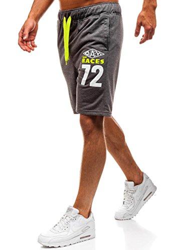 BOLF Herren Kurzehose Sporthose Shorts Sport Style Extreme EX05 Dunkelgrau XL [7G7]