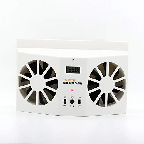 Mouchao Ventilatore Auto a Risparmio energetico Ventola Auto per radiatore Alimentato ad energia Solare da 2 W