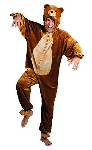 Boland costume tuta peluche orso per adulti, marrone, max 1,95 m, 88017