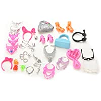 Doll Accessories Bags Necklace Combs Shoes Earings for Barbie Doll Kids Gift
