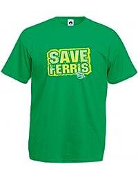 Pop Art Products Ferris Bueller T-Shirt Save Ferris tee shirt apparel retro movie gift merchandise