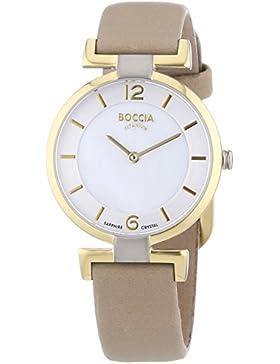 Boccia Damen-Armbanduhr XS Analog Quarz Leder 3238-02