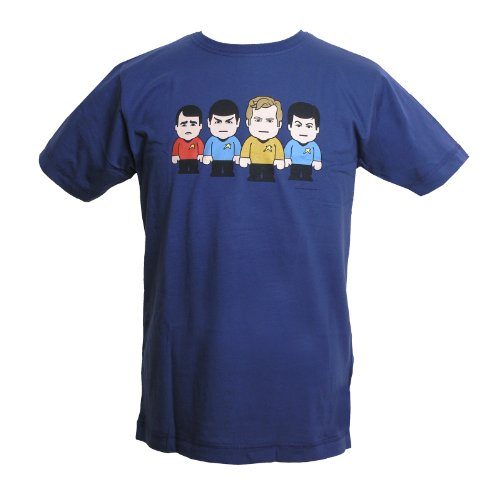 Star Ship Toonstar Marken T-Shirt für SciFi Fans Kult Mens Shirt, blau Blau