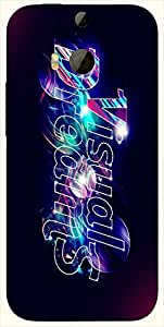 Wonderful multicolor printed protective REBEL mobile back cover for HTC One M8 ( M8 ) D.No.N-T-3577-M8