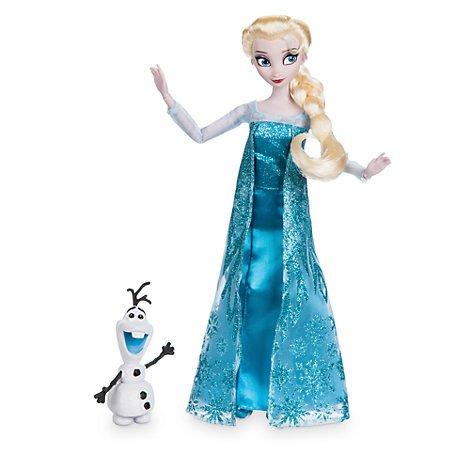 assic Puppe, Frozen (Wunderschönes Elsa Kleid)