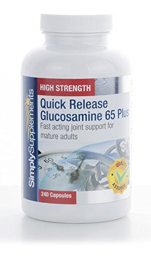 Glucosamina Vegetale a Rilascio Rapido 65 Plus|agisce Velocemente nel dare supporto alle Articolazioni dopo I 65 anni|240 Capsule SimplySupplements