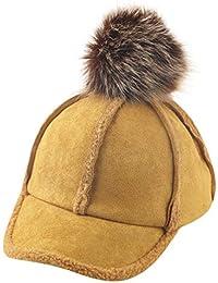 QinMM 2-8 años Infantil bebé Gorra de Beisbol de furball Sombrero otoño  Invierno niños f0297a416f6