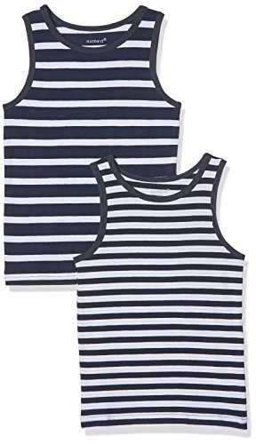 NAME IT Baby Jungen Unterhemd NMMTANK TOP 2P Dress Blues NOOS 2er Pack, Mehrfarbig, 92