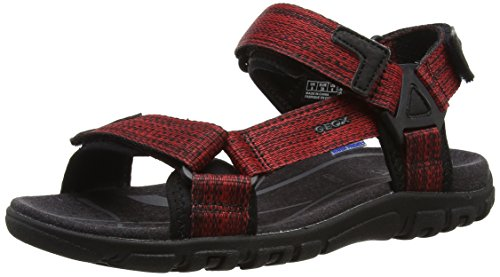 Geox Herren U Sandal Strada WF A, Rot (Red/BLACKC0020), 42 EU