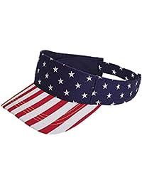 Superbe visière unisexe aux couleurs des Etats-Unis, style professionnel. Produit offert par NYfashion101.