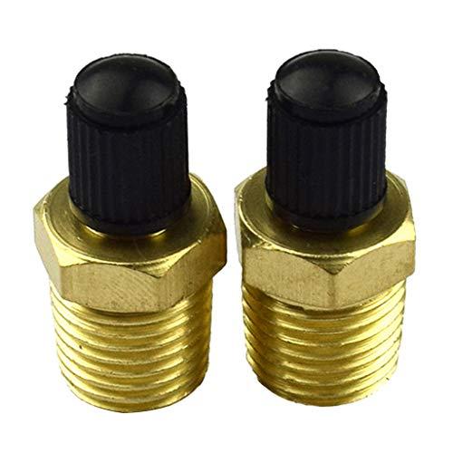 Füllen Luft (FLAMEER Paar 1/4 NPT Luft Kompressor Tank Füllen Ventil Autoventil Mit Kunststoffkappe Für Auto LKW PKW)