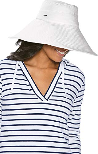 Coolibar Damen UV-Schutz Strandhut, Weiß, OneSize