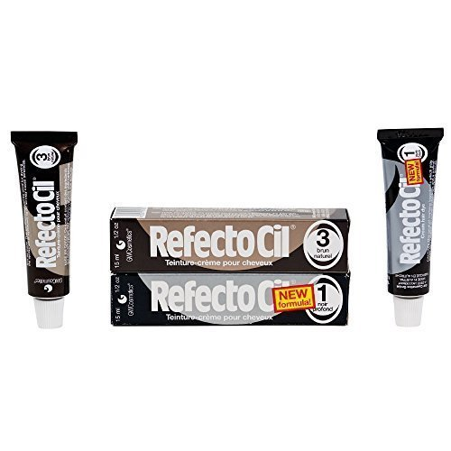 Refectocil Twin Pack Black n Natural Brown Cream Hair Dye, 15ml X 2