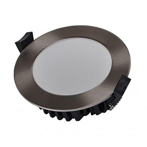 Äußerst schmale LED-Deckenleuchte, silberfarben, gebürstet, rund, dimmbar, 10W, 230V, 3000K, warmweiß -