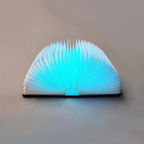 Folding Innovative USB Wiederaufladbare LED Faltbare Holz Buchform Schreibtischlampe Nachtlicht Booklight Wohnaccessoires@Weißer Ahorn_Vereinigte Staaten -