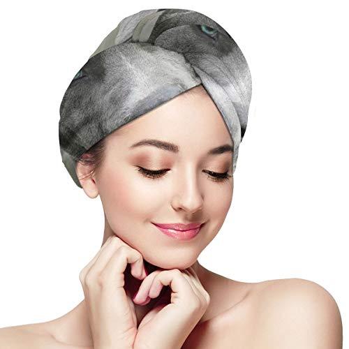 Dog Lovers Toallas Gorro absorbente y suave para cabello seco para mujeres niñas