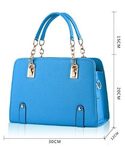 HQYSS Borse donna Estate alla moda modelli Lady catena tracolla Messenger Handbag , pink days blue