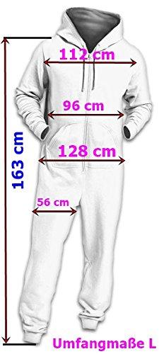 Crazy Age Kuscheliger Jumpsuit Sweat Overall Ganzkörperanzug mit Renntier- Eiskristalle Motive CA-J-603 Relaxen Chillen Schwarz/Weiß