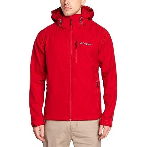 Columbia Cascade Ridge II Softshell - Chaqueta para hombre, color rojo, talla L