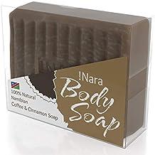 Suave jabón artesanal de aceite de!Nara ecológico con Café y Canela, para el
