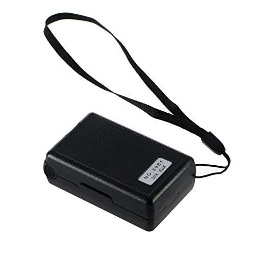 Elviray Lupe 30X 60X LED Mini Pocket Zoom Lupa Hand Tragbare Juwelier Mikroskop Währung UV-Detektor Len