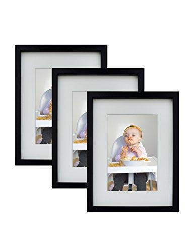 BD ART 3er Set 15 x 21 cm Bilderrahmen, 3-Pack, Schwarz (Bilderrahmen 20 X 16)