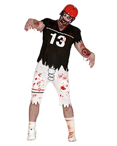 Horror American Zombie Football Spieler Herrenkostüm One Size