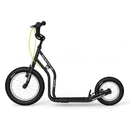 Yedoo New WZOOM Black | Kinderroller mit Luftreifen ab 6 Jahre | Kick Scooter für Kids | Tretroller