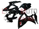 LoveMoto Verkleidung für GSX-R600 GSX-R750 K6 2006 2007 06 07 GSXR 600 750 ABS Spritzguss Kunststoff-Motorradverkleidung-Sets Schwarz