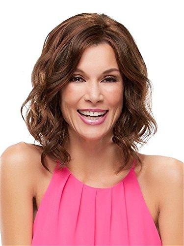 Natürlich aussehende Frauen Mode Curly Welle Bob Hair Perücke + 1 Perücke Cap