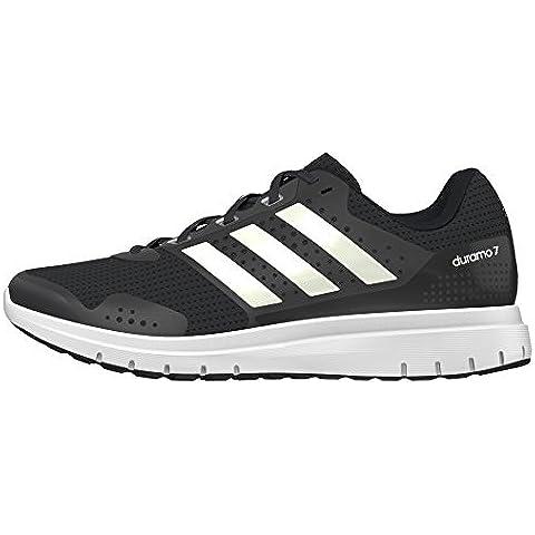 adidas Duramo 7, Zapatillas de Running para Hombre, Negro (Negbas / Ftwbla / Negbas), 44 2/3 EU