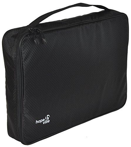 HOPEVILLE Hemdentasche für knitterfreie und faltenfreie Hemden, T-Shirts und Blusen | Premium Kleidertasche für den sicheren Transport im Koffer, Reisetasche oder Handgepäck