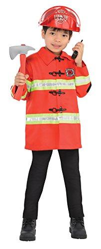 Imagen de kit de bombero infantil bomberos uniformes niños niñas niños disfraz alternativa