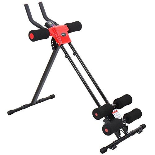 Bauchtrainer mit individuellen Trainingsprogrammen und LCD-Display Fitnessgerät Muskeltrainer