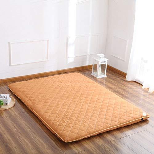 EEvER Schlafmatte Bequeme Matratze Tatami-Fußmatte, Fußmatte Futon-Matratzenauflage Traditionelle japanische Futon Viel Dickes Queen-Size Einzelne Größe Dorm-C 90x200 cm (35x79 Zoll)
